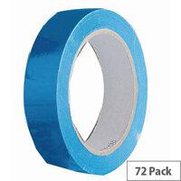 Vinyl Tape Bulk Pack 24mm Blue Pack of 72