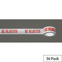 Message Tape Q.C. Rejected Pack of 36