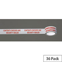 Message Tape Contents Checked And Security Sealed Pack of 36