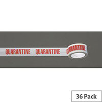 Message Tape Quarantine Pack of 36