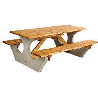 Concrete Picnic Bench Standard L 1825mm