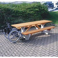 Concrete Picnic Bench Disabled Access L 2430mm