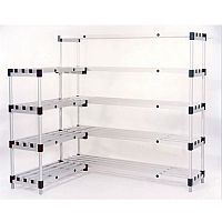 Anodised Aluminium Shelving Extra Shelf WxDmm 1200x400