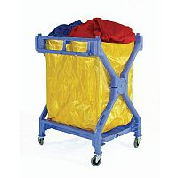Folding Laundry Trolley With Pvc Bag