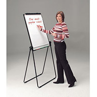 Ultimate Double-Sided Flipchart Easel And Whiteboard Black