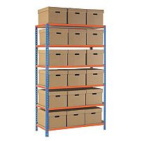 Regular Duty Archive Storage Complete With 18 Plain Card Boxes