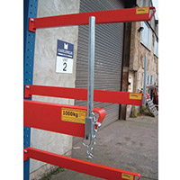 Heavy Duty Bolted Cantilever Racking End Stop 250mm Tall Kit Consists Of 2 x Base Stops And 6 x Arm Stops