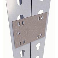 Galvanised Steel Joining Plate For Steel Shelving