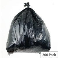 Waste Sacks Light Duty Black 90L Pack of 200