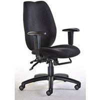 Deluxe Ergonomic High Back Task Operator Office Chair Black - Weight Tolerance: 140kg