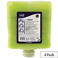 DEB Lime Heavy Duty Hand Cleanser Wash Hand Scrub 2L Pack 4