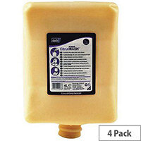 DEB Citrus Orange Heavy Duty Hand Cleanser Scrub Cartridge Refills 2L Pack 4