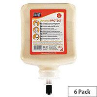 DEB Pre-Work Hand Cream Capacity 1L Cartridge Refills Pack 6