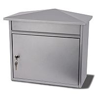 Mersey Extra Large Post Box Silver