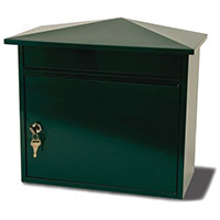 Mersey Extra Large Post Box Green