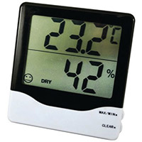Thermo-Hygrometer Displays Both the Temperature and the Humidity