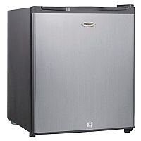 Stainless Steel Effect Counter Top Fridge And Ice Box With Lock 46 Litres