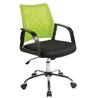 Coloured Back Mesh Task Operator Office Chair Black & Green
