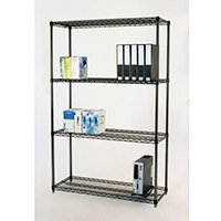 Black Anodised Wire Shelving 1220mm Wide