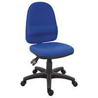 Ergotwin Lumbar Support High Back Ergonomic Posture Task Operator Office Chair Blue - Weight Tolerance:150kg