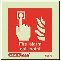 Photoluminescent Fire Alarm Call Point Sign