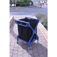 Folding Laundry Trolley With Canvas Bag