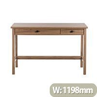 Home Office Console Style Study Desk Salt Oak