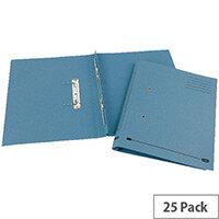 Transfer Spring File Recycled Foolscap Blue 35mm Pack 25 Elba Spirosort