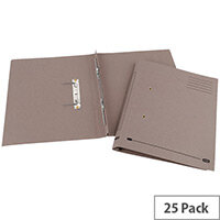 Transfer Spring File Recycled Foolscap Buff 35mm Pack 25 Elba Spirosort