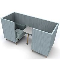 Meeting Pod TRYST 2 Seater Booth Light Blue STK26