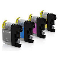 Compatible Brother Inkjet Cartridge LC121VALBP 4 Colour