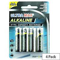 White Box Alkaline Batteries AA (Pack 4)