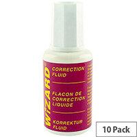 White Box Correction Fluid White [Pack 10]